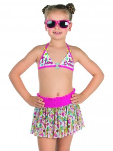 Купальник для девочек (бюст, плавки, юбка) Charmante GMU051603Kiwi